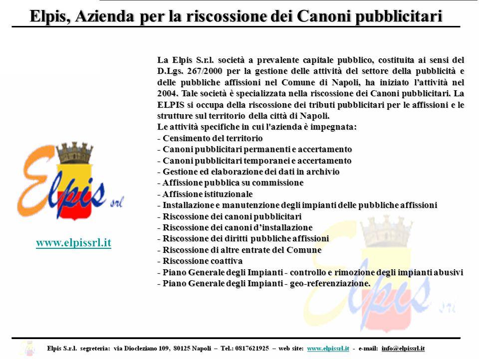 La Elpis S.r.l. società a prevalente capitale pubblico, costituita ai sensi del D.Lgs. 267/2000 per la gestione delle attività del settore della pubbl