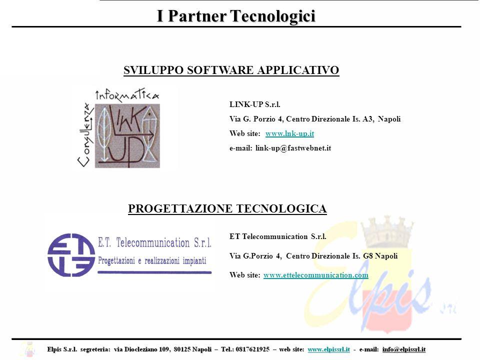 I Partner Tecnologici LINK-UP S.r.l. Via G. Porzio 4, Centro Direzionale Is. A3, Napoli Web site: www.lnk-up.itwww.lnk-up.it e-mail: link-up@fastwebne