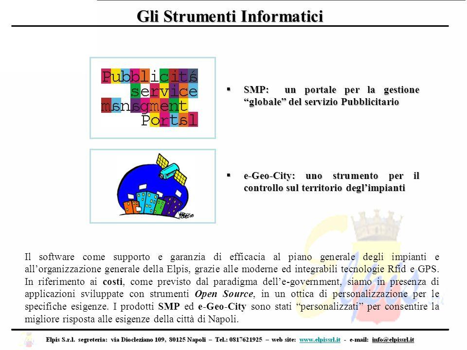 """Gli Strumenti Informatici  SMP: un portale per la gestione """"globale"""" del servizio Pubblicitario  e-Geo-City: uno strumento per il controllo sul terr"""