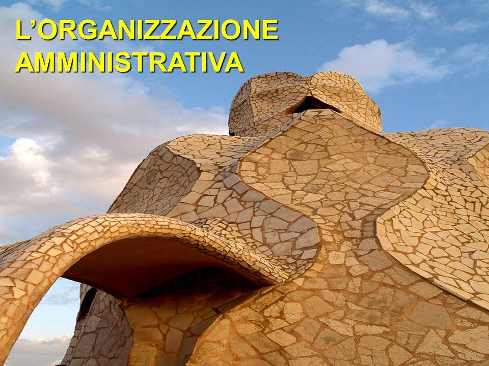 L'ORGANIZZAZIONEAMMINISTRATIVA