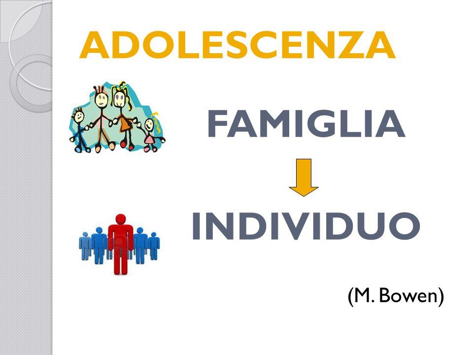 ADOLESCENZA FAMIGLIA INDIVIDUO (M. Bowen)