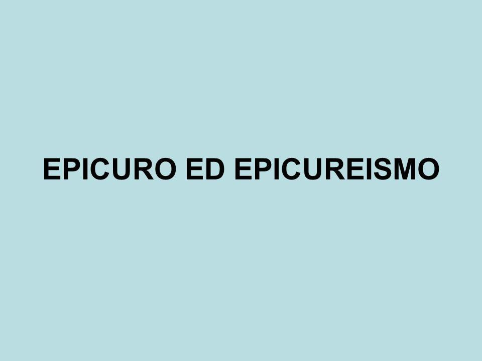 EPICURO ED EPICUREISMO