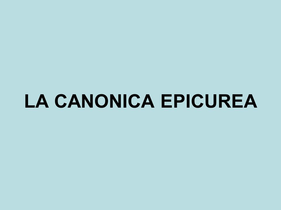L'ETICA EPICUREA