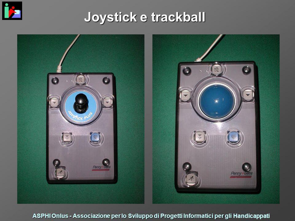 Joystick e trackball ASPHI Onlus - Associazione per lo Sviluppo di Progetti Informatici per gli ASPHI Onlus - Associazione per lo Sviluppo di Progetti Informatici per gli Handicappati