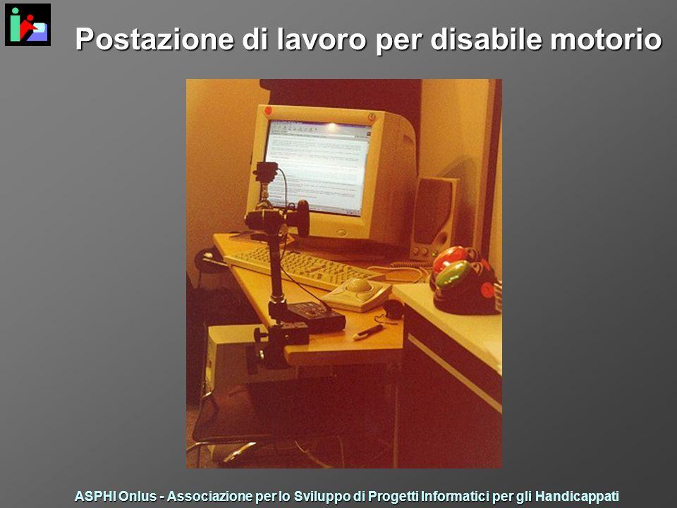 Postazione di lavoro per disabile motorio ASPHI Onlus - Associazione per lo Sviluppo di Progetti Informatici per gli ASPHI Onlus - Associazione per lo Sviluppo di Progetti Informatici per gli Handicappati