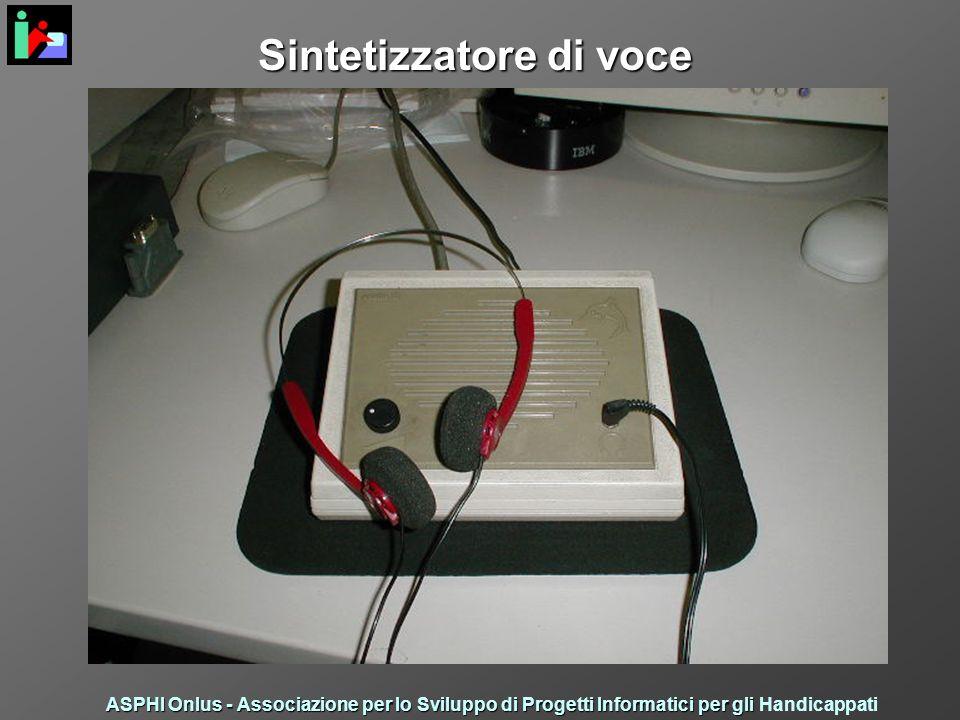Sintetizzatore di voce ASPHI Onlus - Associazione per lo Sviluppo di Progetti Informatici per gli ASPHI Onlus - Associazione per lo Sviluppo di Progetti Informatici per gli Handicappati