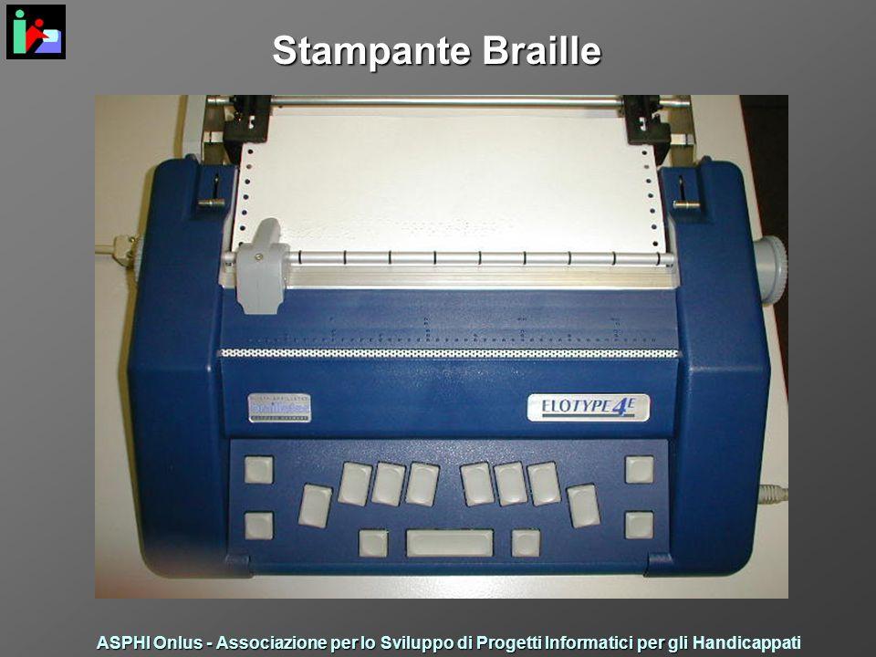 Stampante Braille ASPHI Onlus - Associazione per lo Sviluppo di Progetti Informatici per gli ASPHI Onlus - Associazione per lo Sviluppo di Progetti Informatici per gli Handicappati