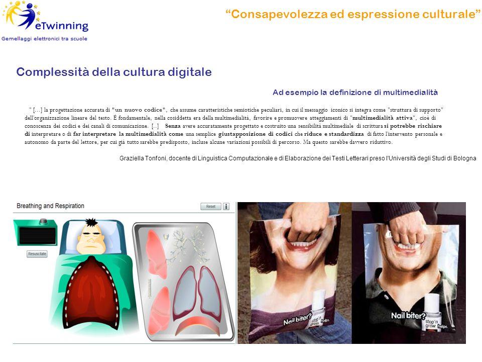 """""""Consapevolezza ed espressione culturale"""" Complessità della cultura digitale"""
