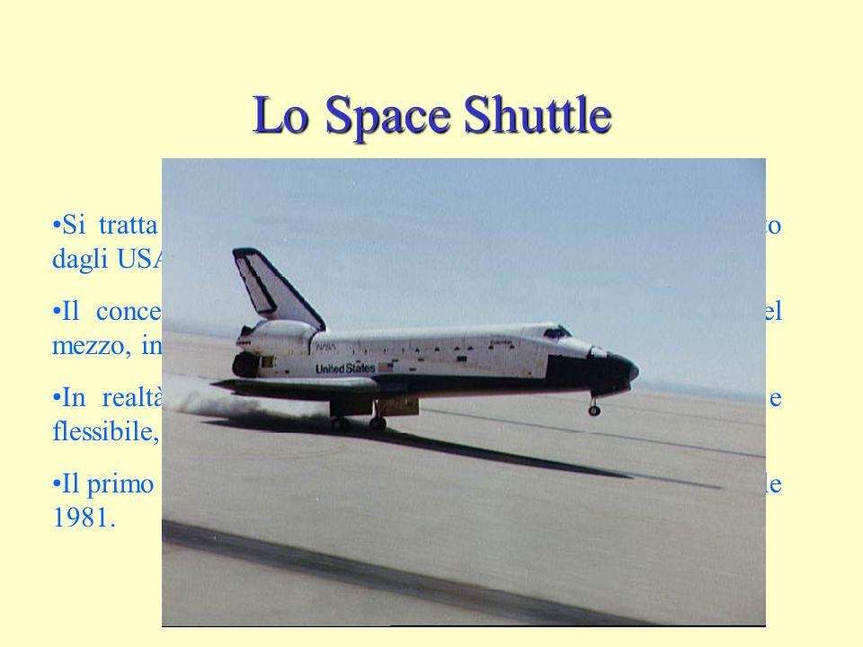 Lo Space Shuttle Si tratta di un lanciatore di moderna concezione sviluppato dagli USA.