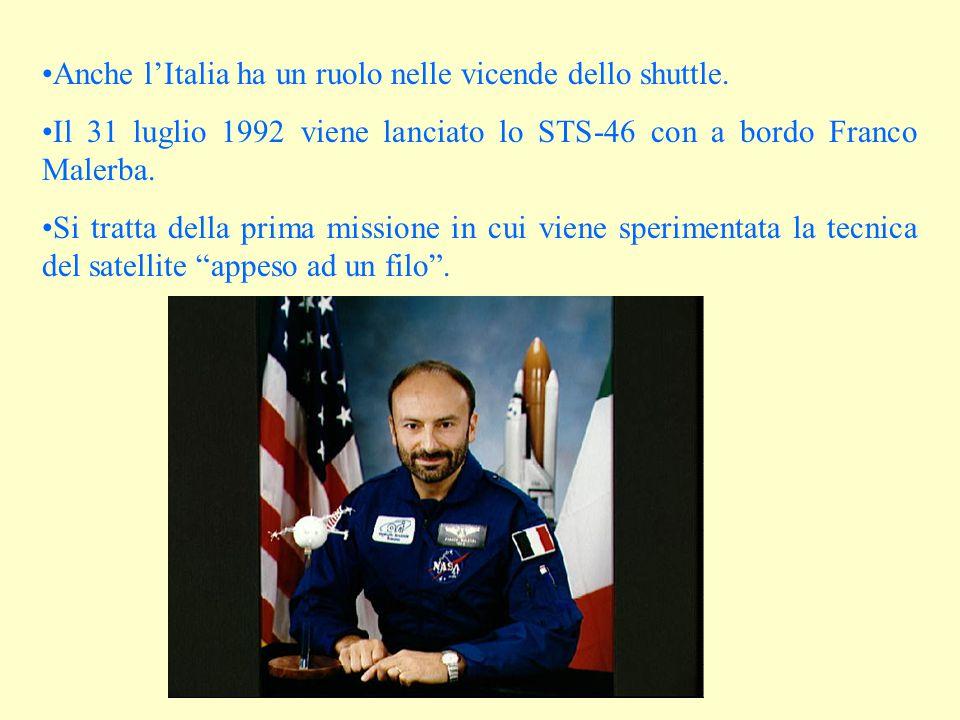 Anche l'Italia ha un ruolo nelle vicende dello shuttle.