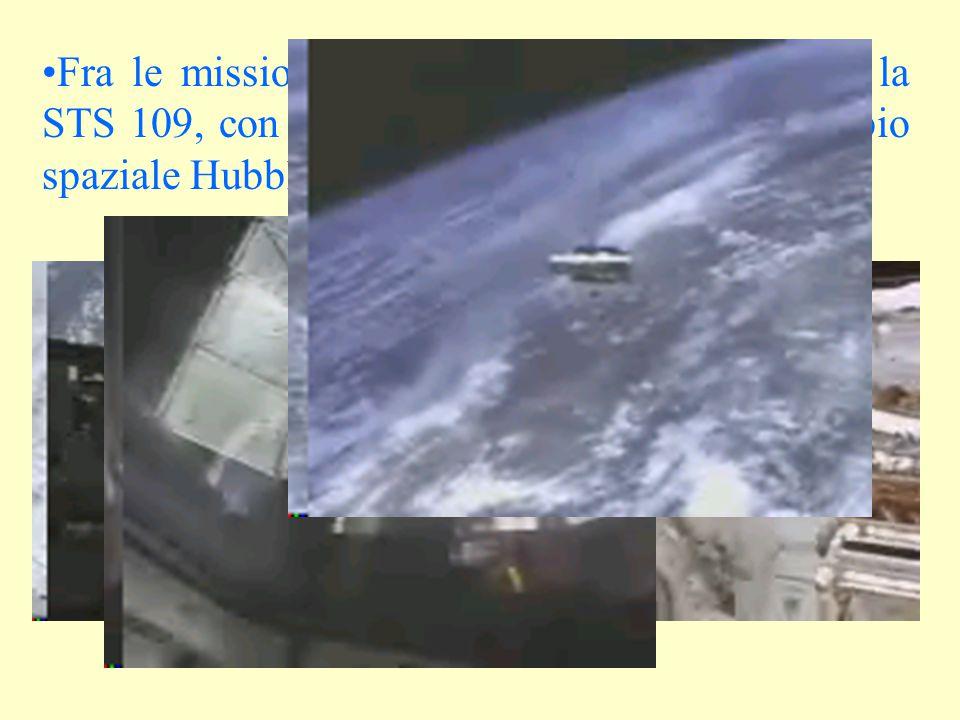 Fra le missioni Shuttle più rilevanti abbiamo la STS 109, con l'ultimo intervento per il telescopio spaziale Hubble