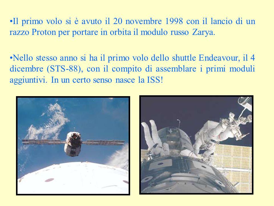 Il primo volo si è avuto il 20 novembre 1998 con il lancio di un razzo Proton per portare in orbita il modulo russo Zarya.