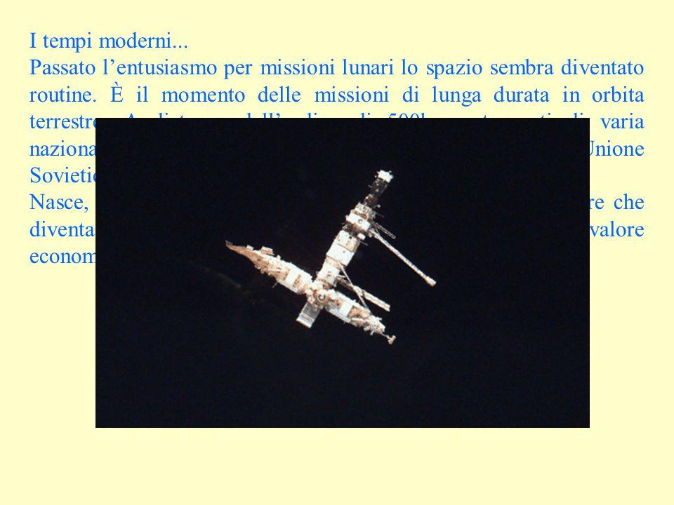 I tempi moderni...Passato l'entusiasmo per missioni lunari lo spazio sembra diventato routine.
