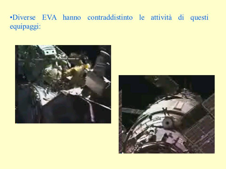 Diverse EVA hanno contraddistinto le attività di questi equipaggi: