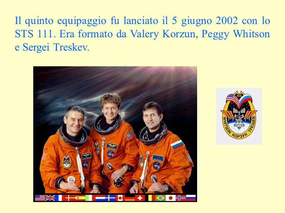 Il quinto equipaggio fu lanciato il 5 giugno 2002 con lo STS 111.