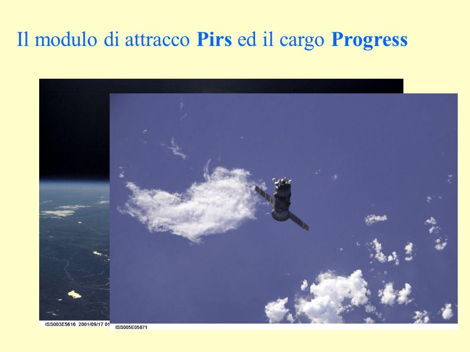 Il modulo di attracco Pirs ed il cargo Progress