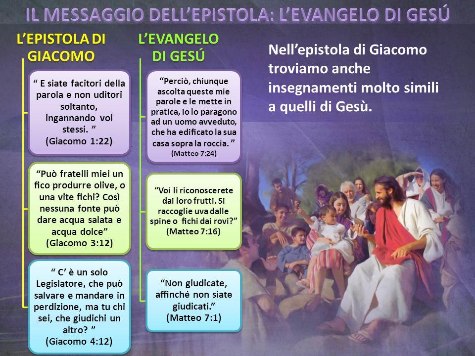 Nell'epistola di Giacomo troviamo anche insegnamenti molto simili a quelli di Gesù.