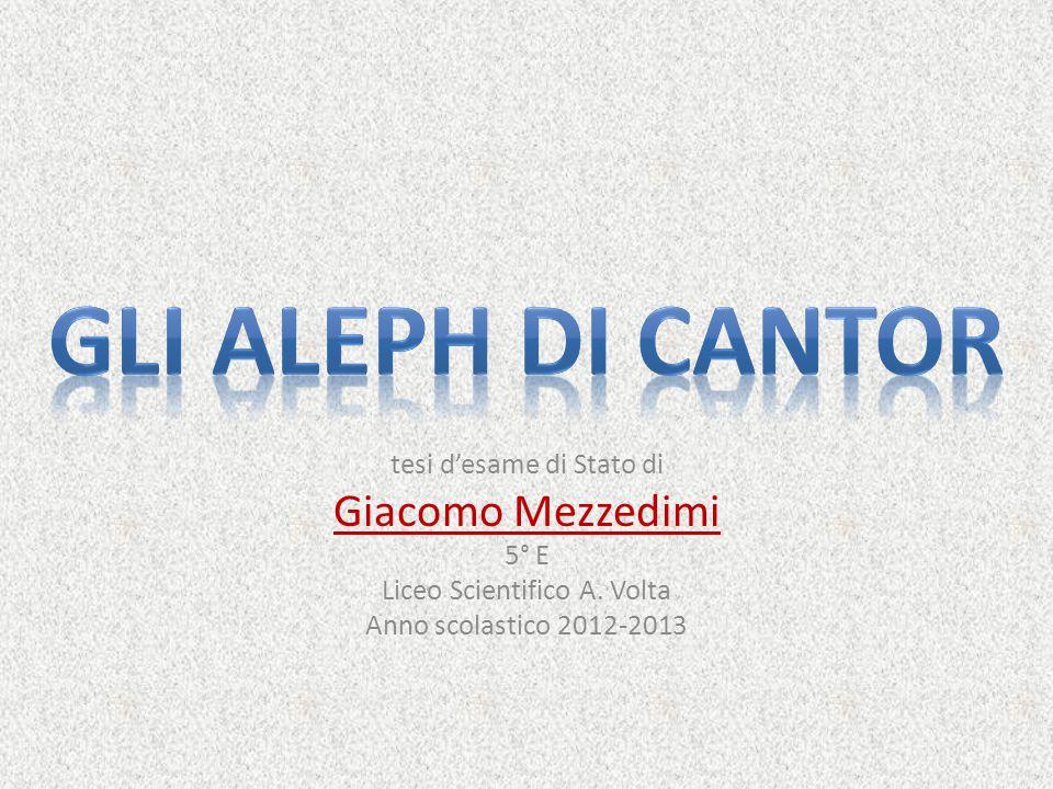 tesi d'esame di Stato di Giacomo Mezzedimi 5° E Liceo Scientifico A. Volta Anno scolastico 2012-2013