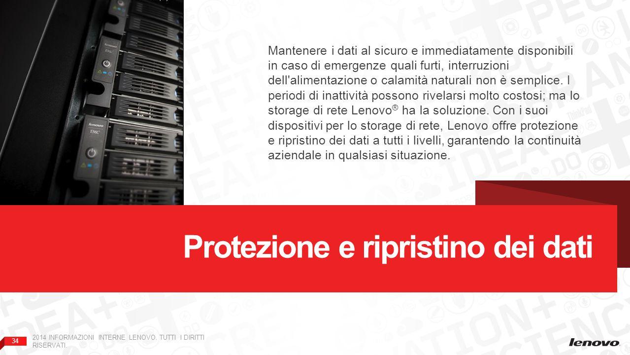 34 2014 INFORMAZIONI INTERNE LENOVO.TUTTI I DIRITTI RISERVATI.