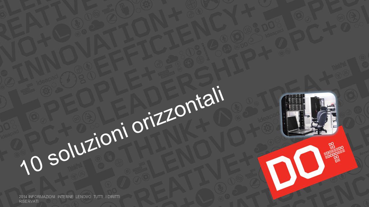 10 soluzioni orizzontali 2014 INFORMAZIONI INTERNE LENOVO. TUTTI I DIRITTI RISERVATI.