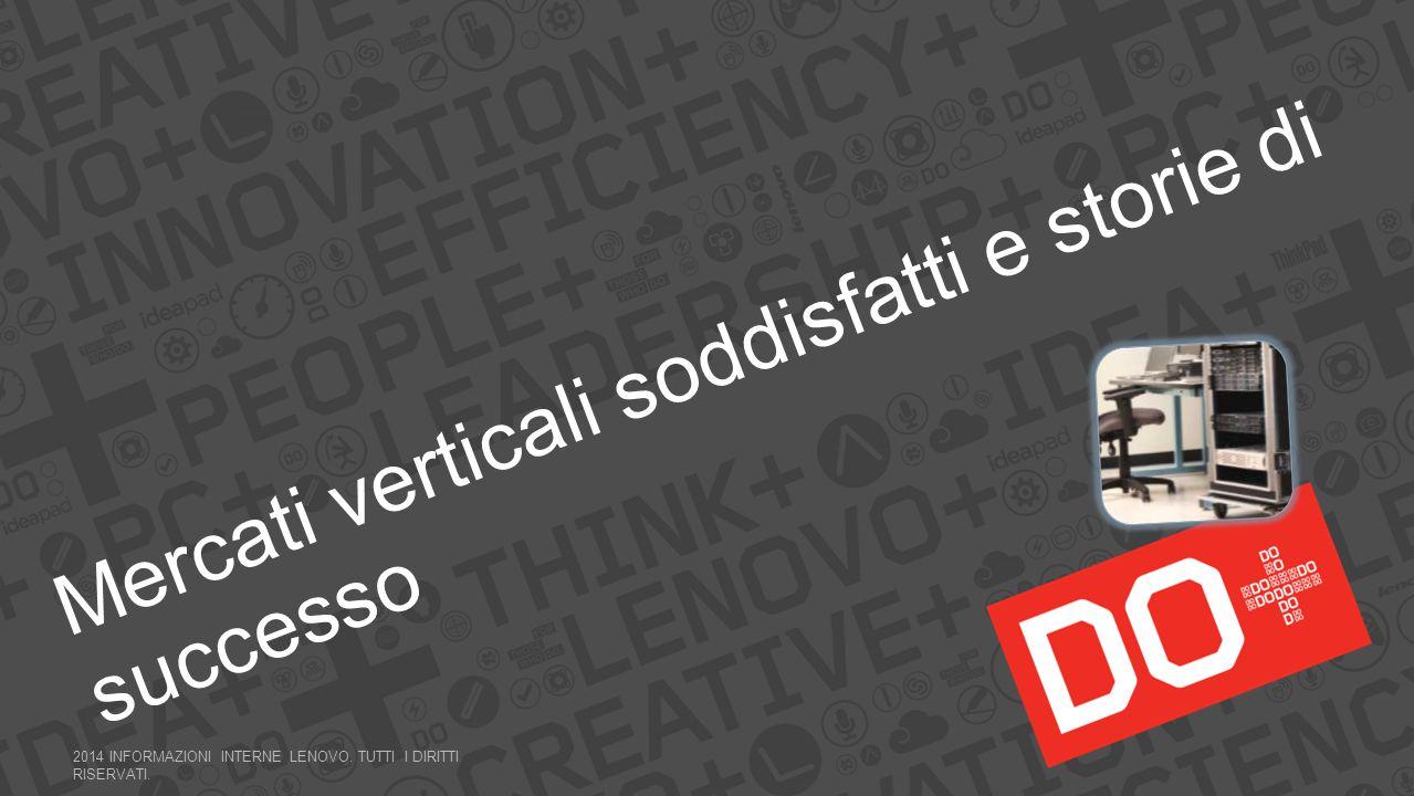 Mercati verticali soddisfatti e storie di successo 2014 INFORMAZIONI INTERNE LENOVO.