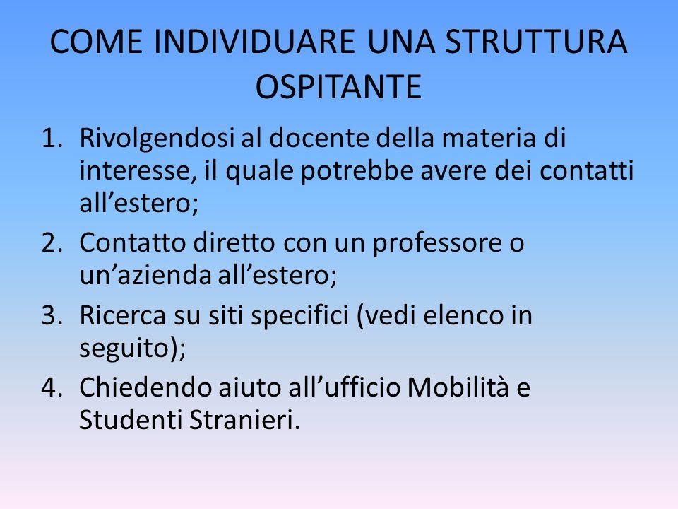 CONTATTI erasmus.tirocini@unisalento.it Tel.
