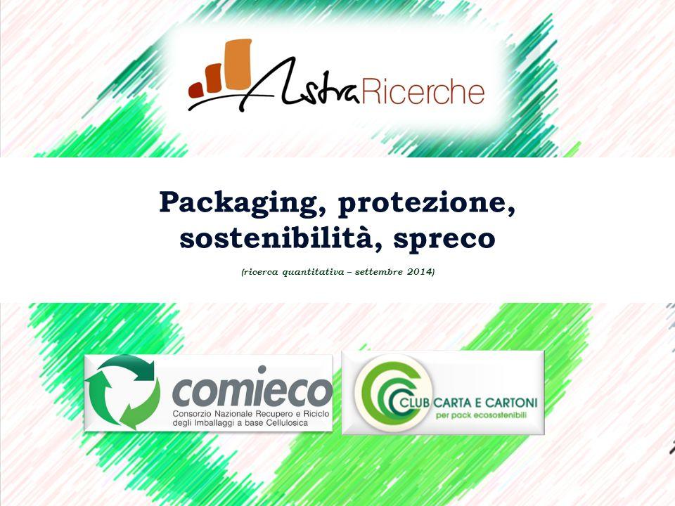 Packaging, protezione, sostenibilità, spreco (ricerca quantitativa – settembre 2014)