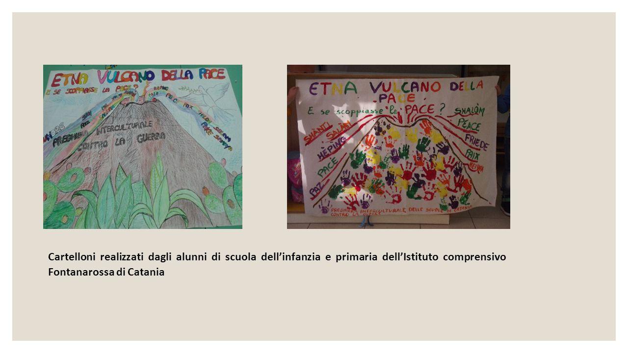 Cartelloni realizzati dagli alunni di scuola dell'infanzia e primaria dell'Istituto comprensivo Fontanarossa di Catania