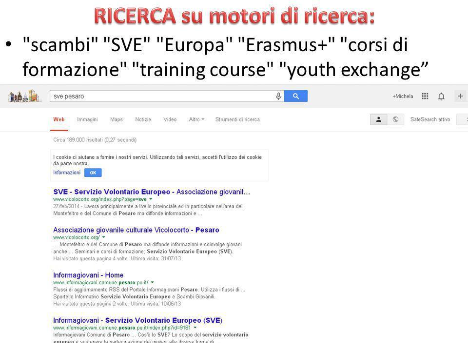 scambi SVE Europa Erasmus+ corsi di formazione training course youth exchange 2013-201430