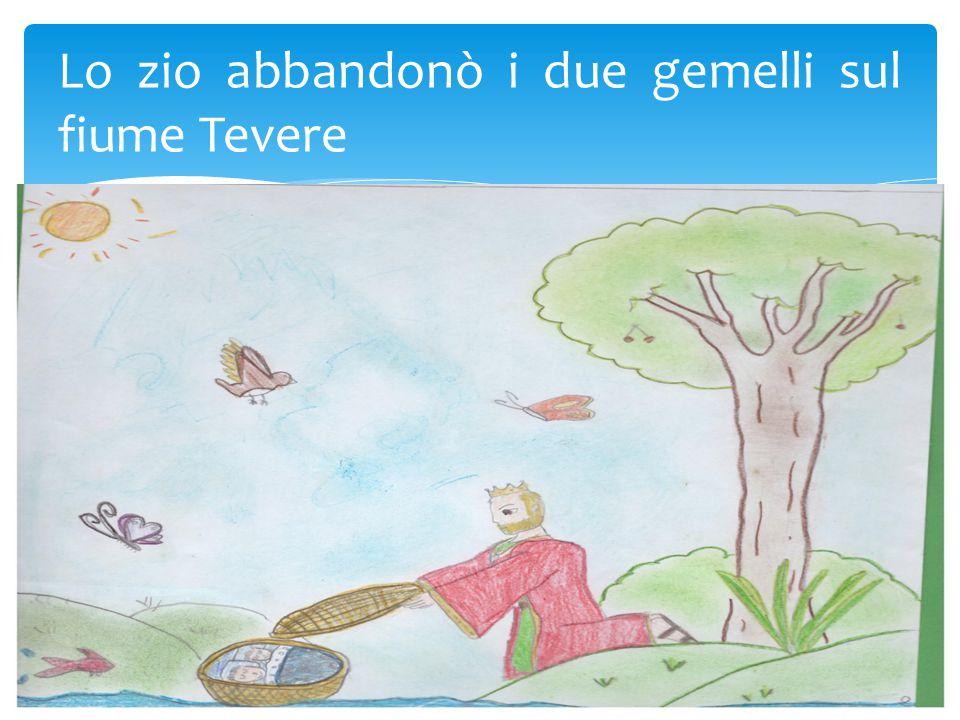 Lo zio abbandonò i due gemelli sul fiume Tevere