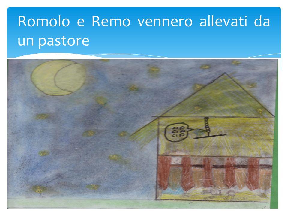 Romolo e Remo vennero allevati da un pastore