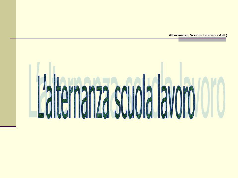Alternanza: quadro normativo Legge 53/03 – Decreto Legislativo 15.04.2005, n.