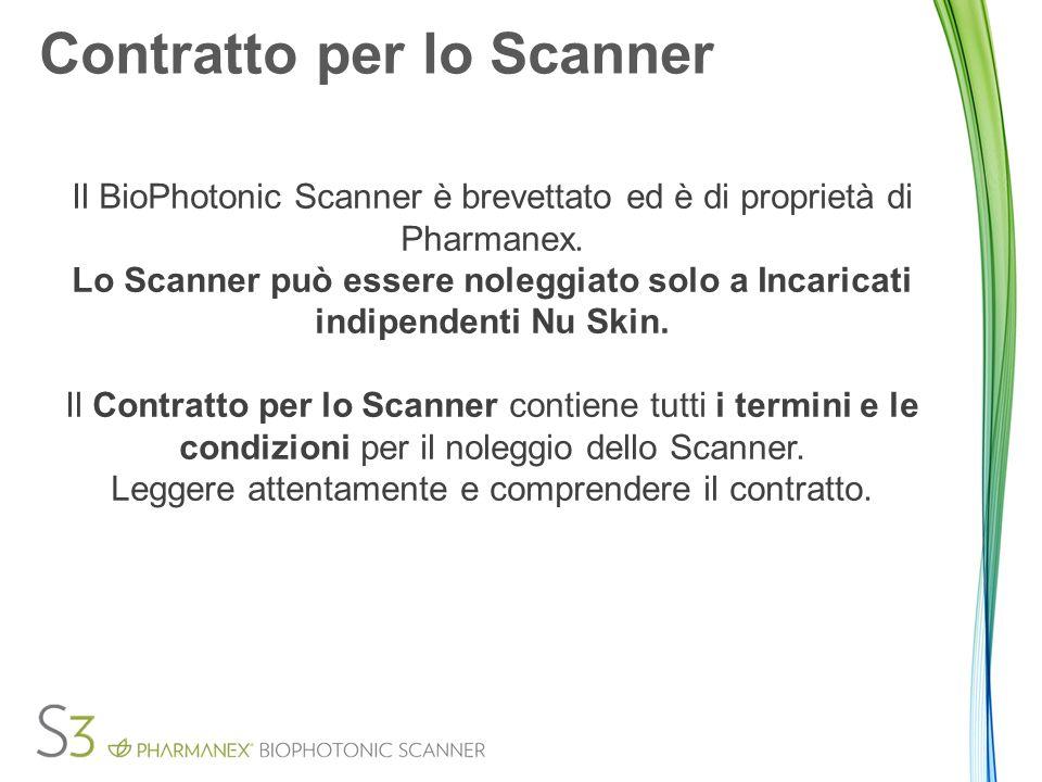 Disattivazione dello Scanner Il mancato pagamento delle tariffe per l'esonero in caso di smarrimento e danno porta alla disattivazione dello Scanner al 25 giorno del mese in cui il pagamento non è stato fatto.