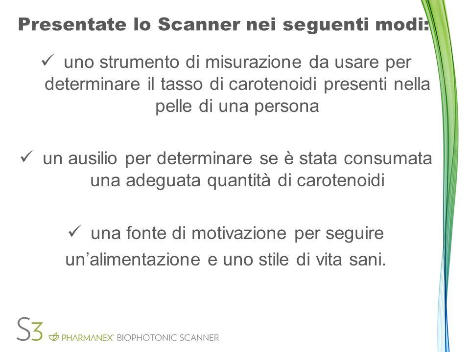 Mantenimento - sezione 2.5 Poter continuare a noleggiare lo Scanner, ogni mese dovete rispondere ai criteri minimi dello Scanner.