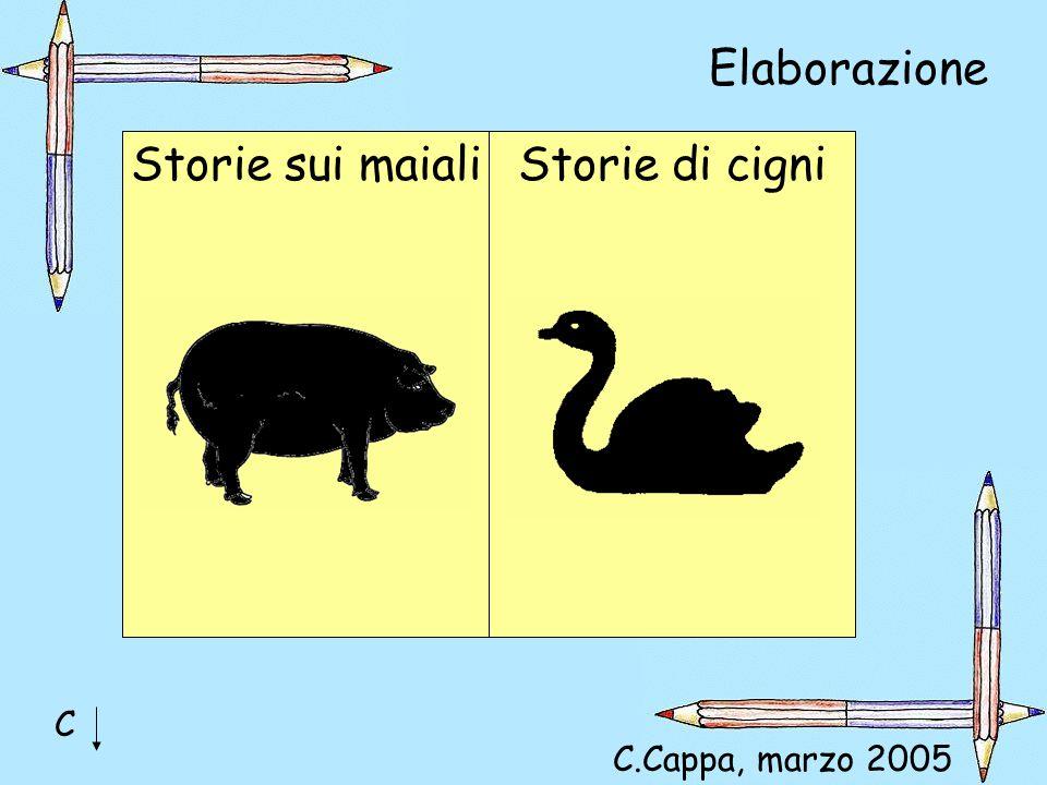 Elaborazione Storie sui maialiStorie di cigni C C.Cappa, marzo 2005
