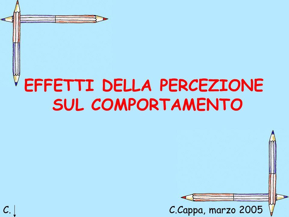 EFFETTI DELLA PERCEZIONE SUL COMPORTAMENTO C.C.Cappa, marzo 2005