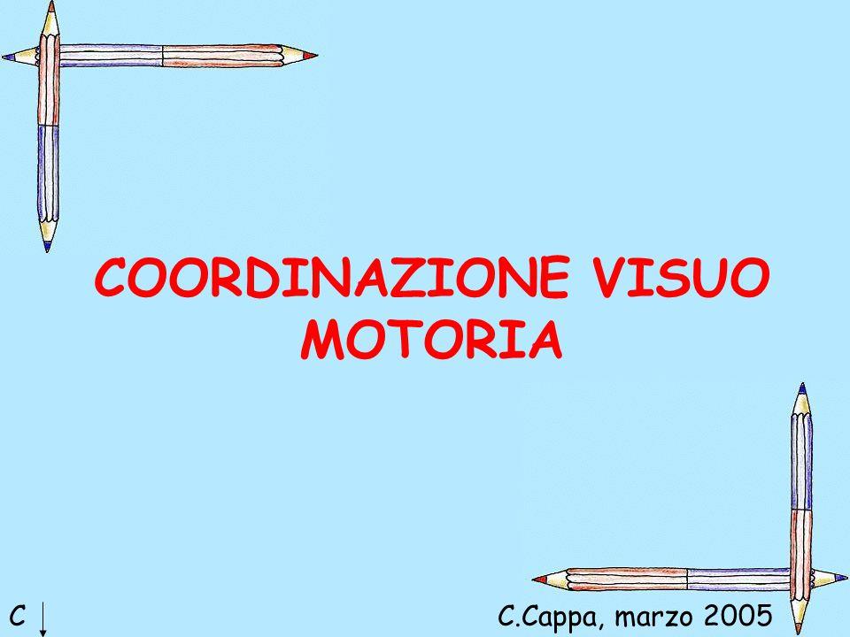 COORDINAZIONE VISUO MOTORIA CC.Cappa, marzo 2005