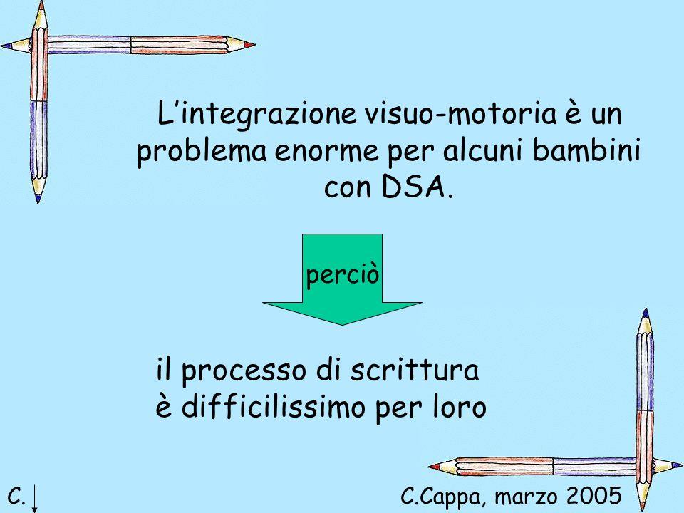 L'integrazione visuo-motoria è un problema enorme per alcuni bambini con DSA.