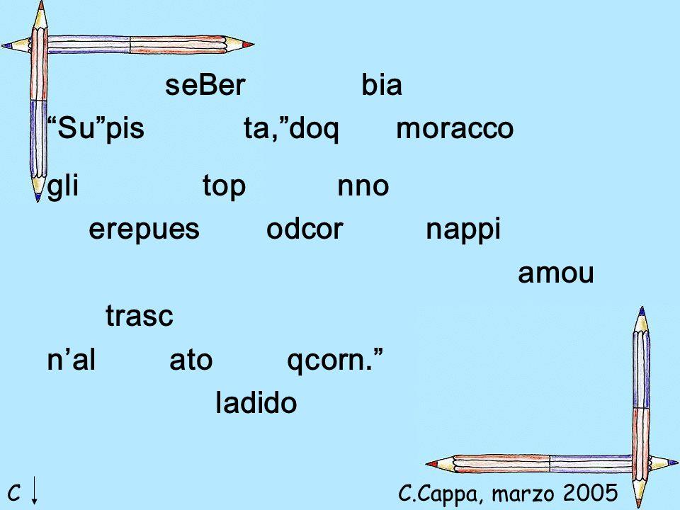 seBer bia Su pis ta, doq moracco gli top nno erepues odcor nappi amou trasc n'al ato qcorn. ladido CC.Cappa, marzo 2005