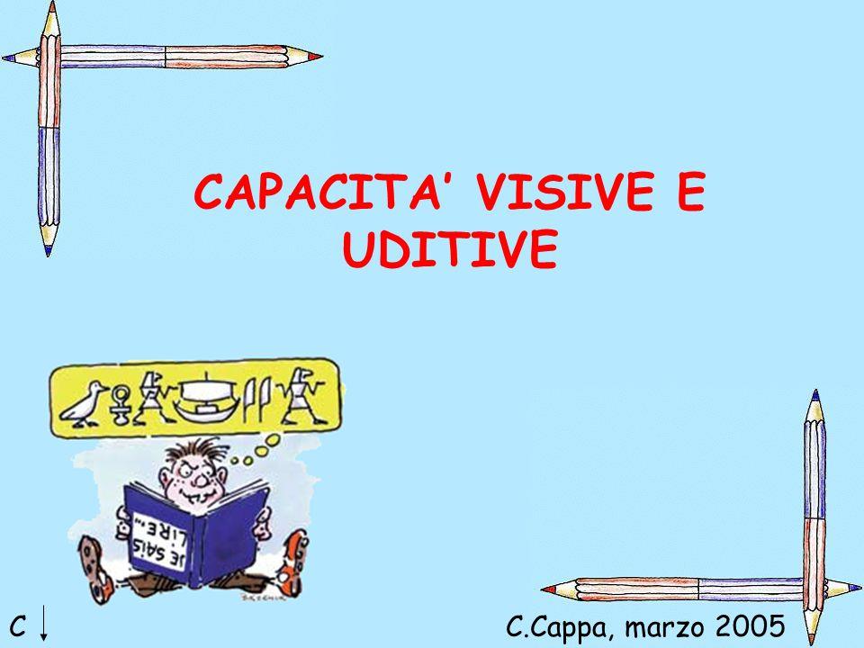 CAPACITA' VISIVE E UDITIVE CC.Cappa, marzo 2005