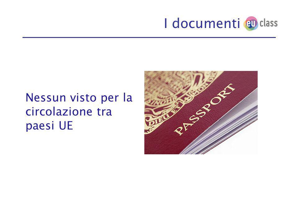 I documenti Nessun visto per la circolazione tra paesi UE