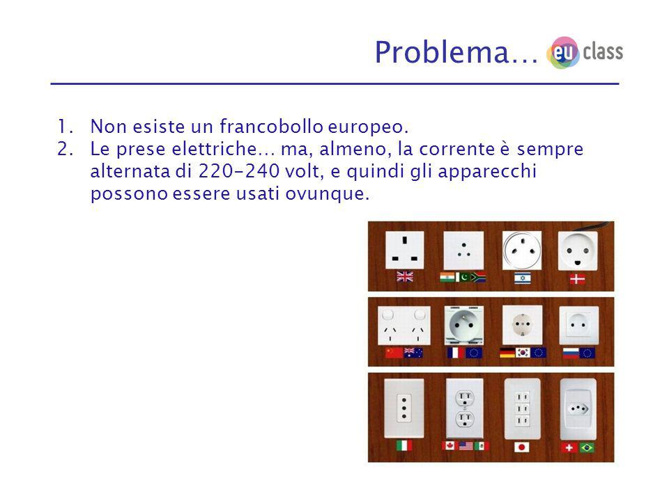 Problema… 1.Non esiste un francobollo europeo.
