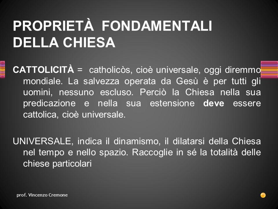 CATTOLICITÀ = catholicòs, cioè universale, oggi diremmo mondiale.