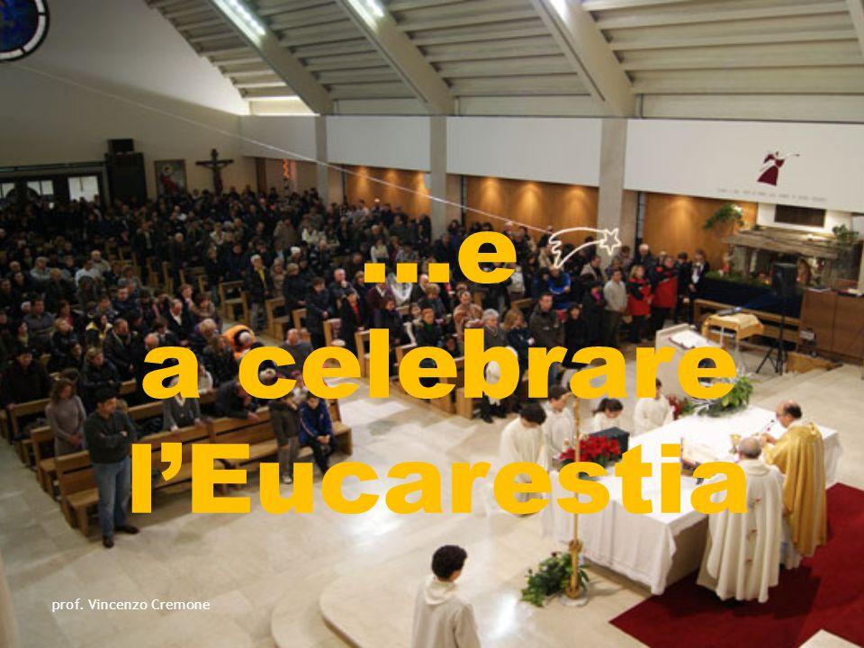 …e a celebrare l'Eucarestia prof. Vincenzo Cremone
