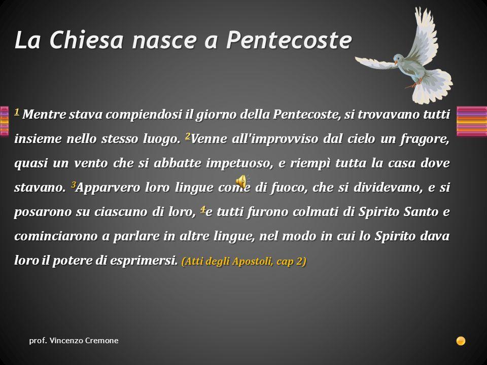 La Chiesa nasce a Pentecoste 1 1 Mentre stava compiendosi il giorno della Pentecoste, si trovavano tutti insieme nello stesso luogo.