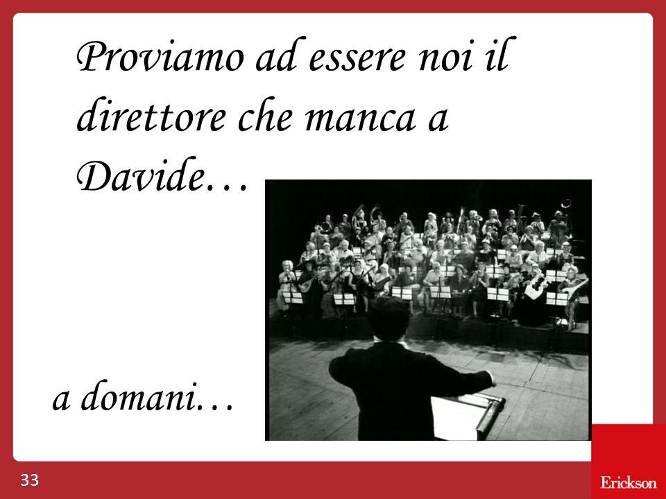 33 Proviamo ad essere noi il direttore che manca a Davide… a domani…