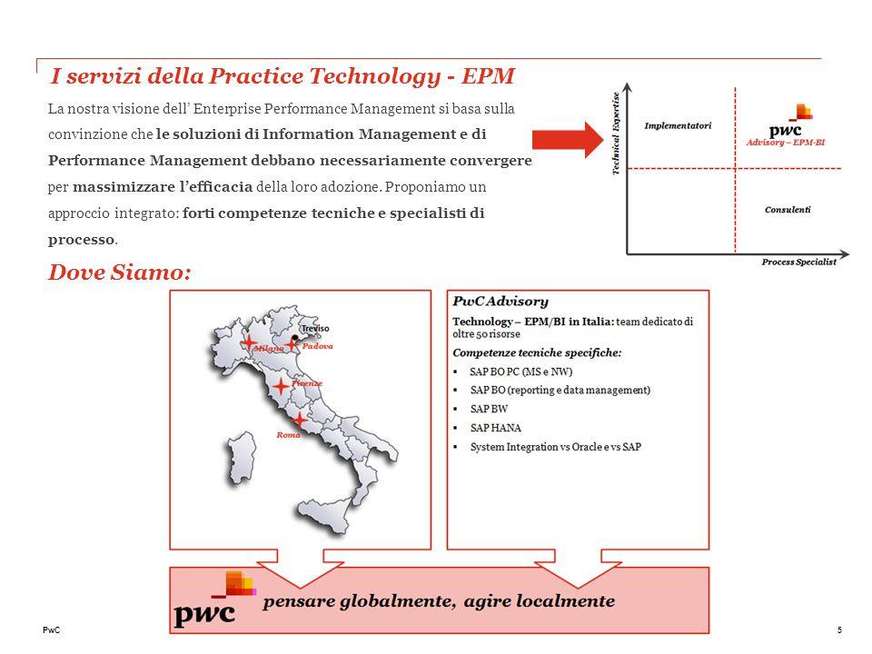 5PwC I servizi della Practice Technology - EPM La nostra visione dell' Enterprise Performance Management si basa sulla convinzione che le soluzioni di