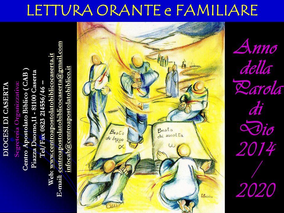 DIOCESI DI CASERTA Segreteria Organizzativa: Centro Apostolato Biblico ( CAB ) Piazza Duomo,11 - 81100 Caserta Tel/Fax 0823 214556/46 – Web: www.centr