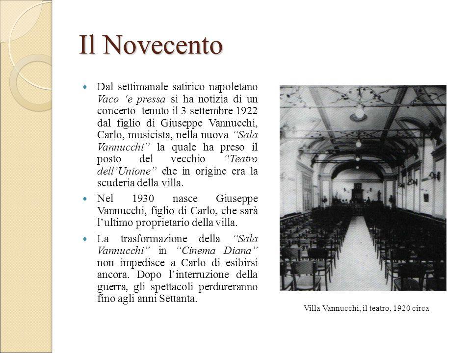Il Novecento Dal settimanale satirico napoletano Vaco 'e pressa si ha notizia di un concerto tenuto il 3 settembre 1922 dal figlio di Giuseppe Vannucc