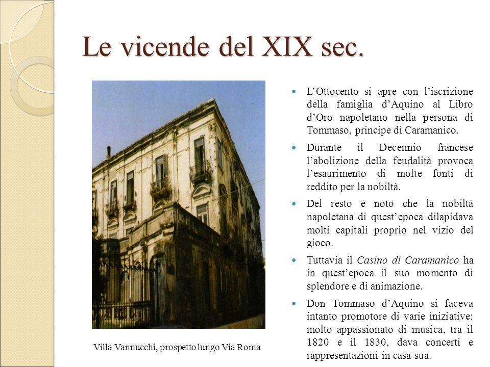 Le vicende del XIX sec.